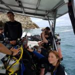 MArine conservation group on the scuba diving boat